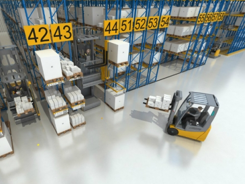 Animation Visualisierung Logistik